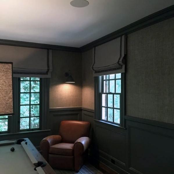 Grey Walls Masculine Guys Billiards Room Ideas