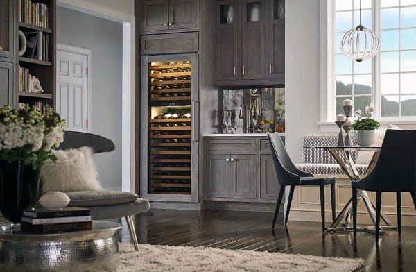 Grey Wet Bar Cabinet Ideas