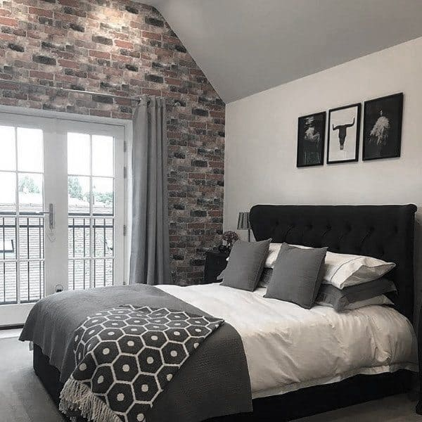 Gray Home Design Ideas: Top 60 Best Grey Bedroom Ideas