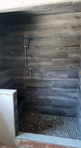 Grey Wood Bathroom Tile Shower Ideas