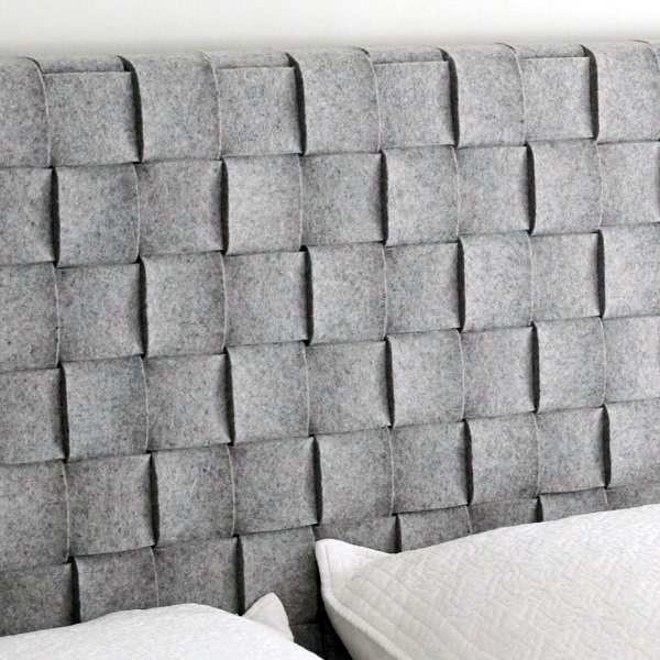 Grey Woven Fabric Leather Ideas For A Headboard