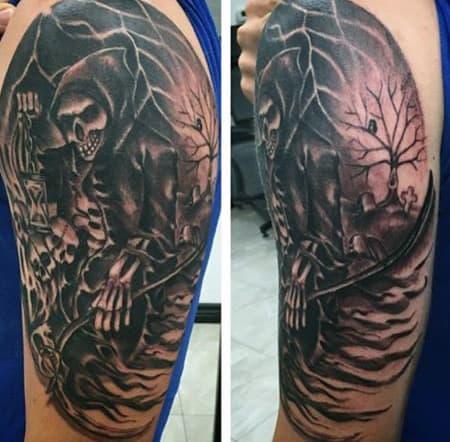Grim Reaper Tattoo Arm For Men