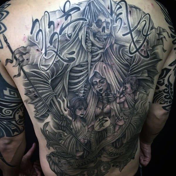Grim Reaper Tattoo Ideas For Men On Back