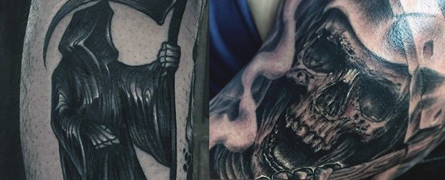 70 Grim Reaper Tattoos For Men – Merchant Of Death Designs