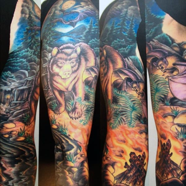 Grizzly Bear Tattoos For Men