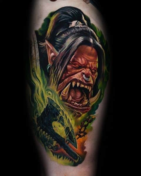 Grommash Hellscream Male Ideas World Of Warcraft Tattoos