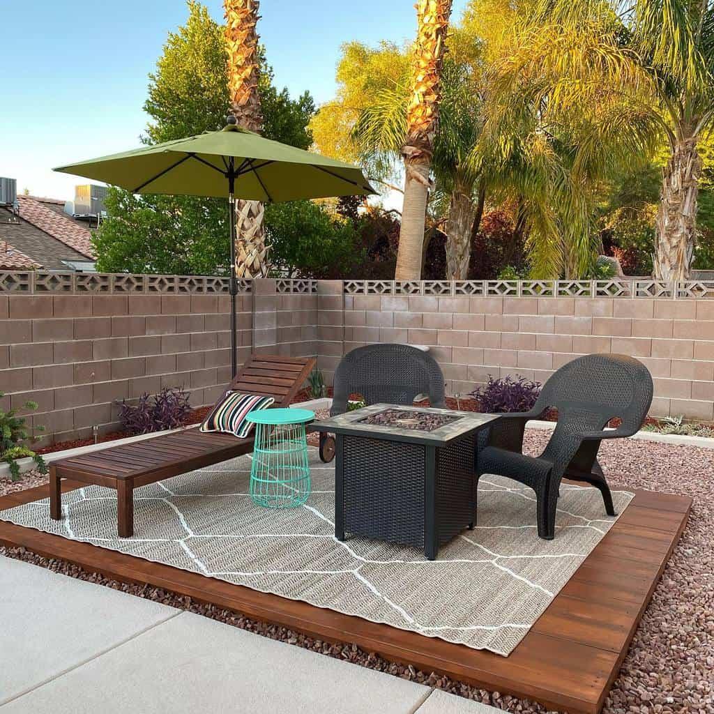 groundlevel patio deck ideas _lehomedesigns