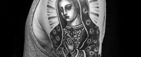 50 Guadalupe Tattoo Designs For Men – Blessed Virgin Mary Ink Ideas
