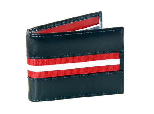 Gucci Black Red Stripe Leather Wallets For Men