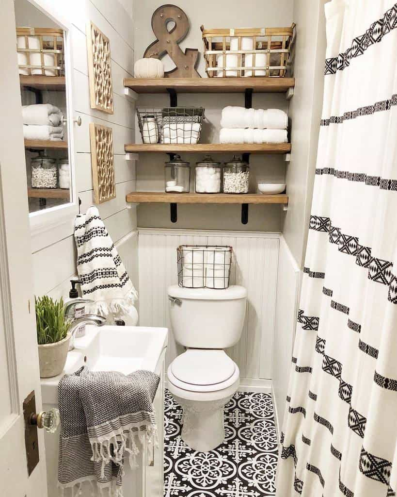 Guest Bath Decor Bathroom Ideas Rustic.sparkle