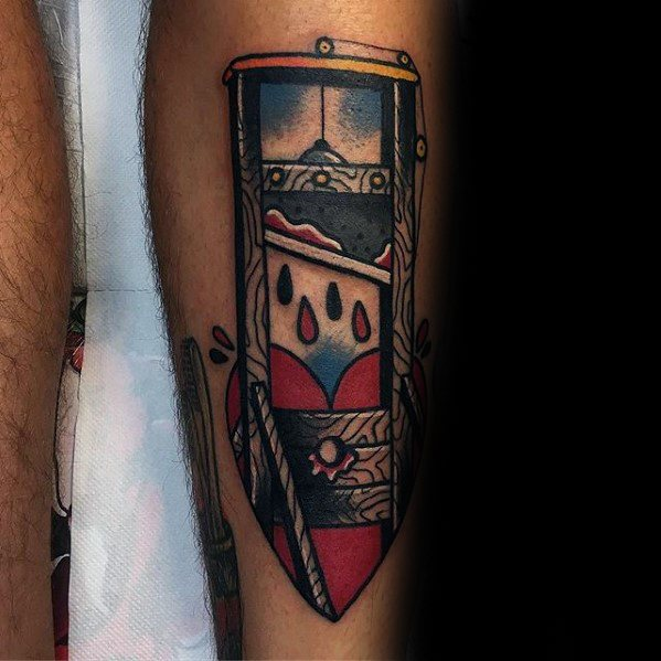 Guillotine Tattoo Designs For Guys