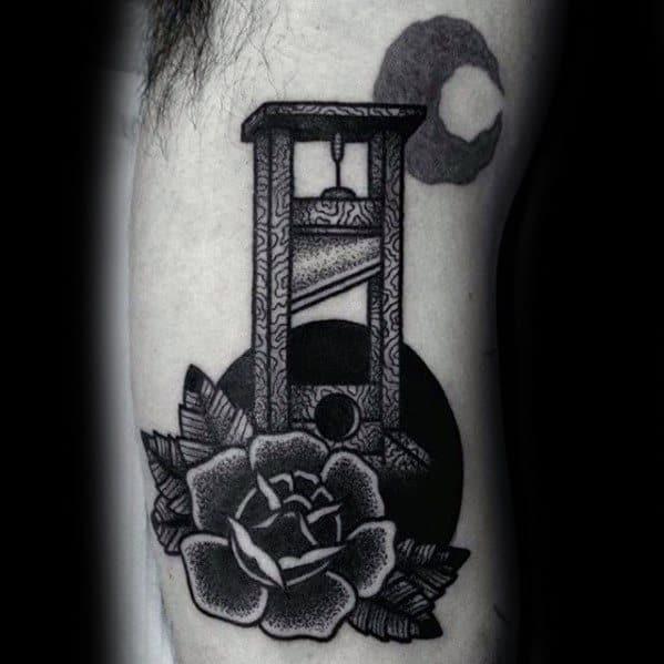 Guillotine Tattoo Ideas For Gentlemen