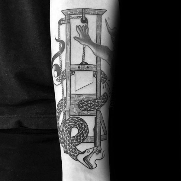 Guillotine Tattoo Ideas On Guys