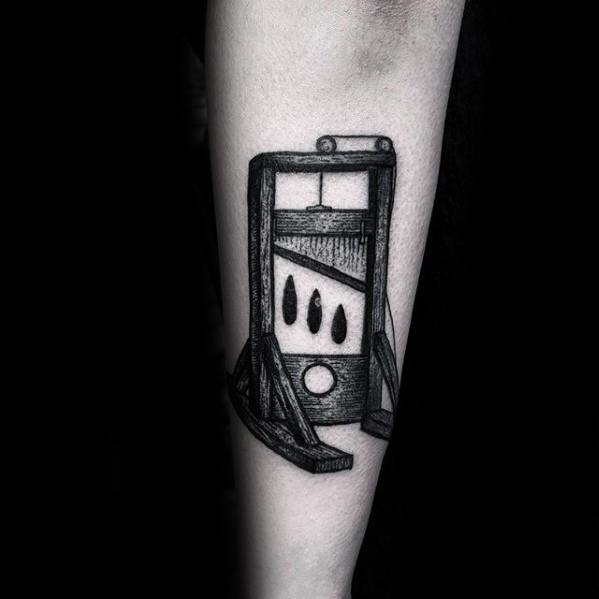 Guillotine Tattoos Guys