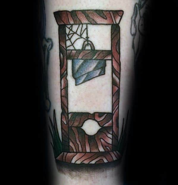 Guillotine Tattoos Male