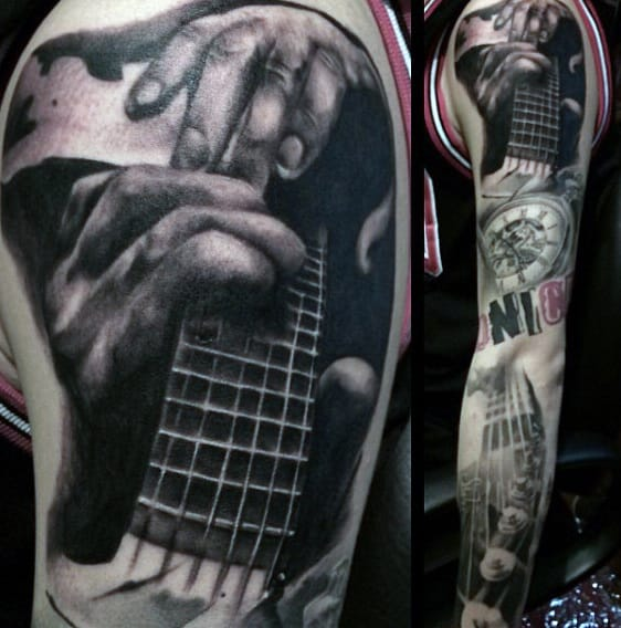 Guitar Pock Tattoos For Men