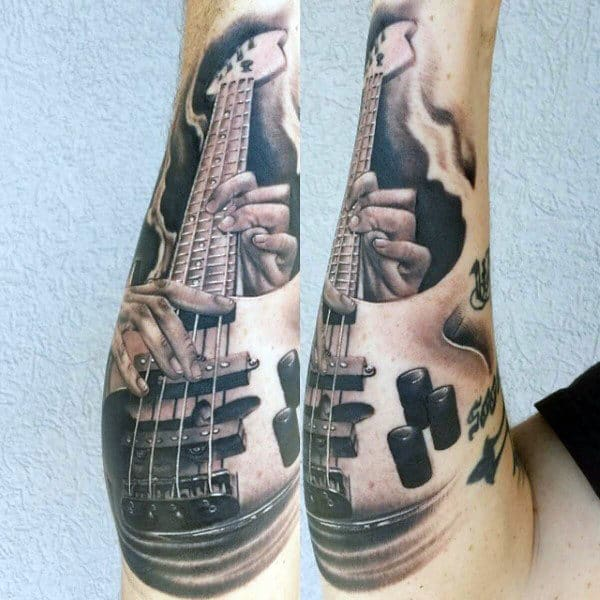 Guitar String Tattoo For Men