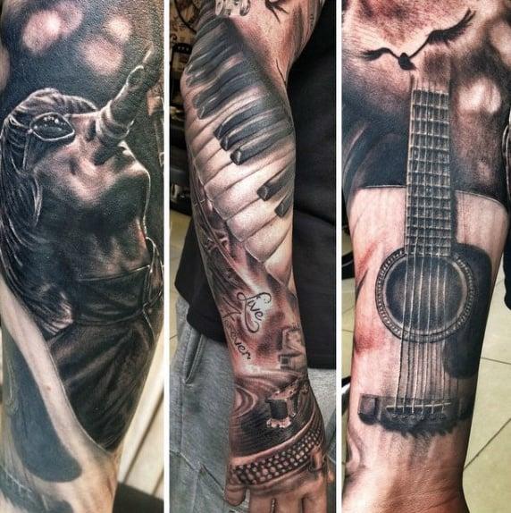 Guitar Tattoos For Guys
