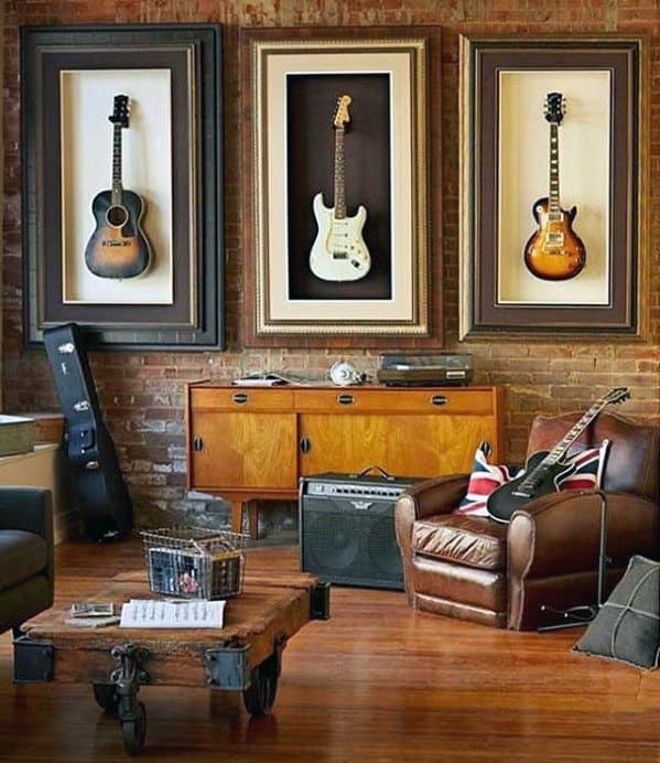 Guitar Themed Awesome Man Caves For Men