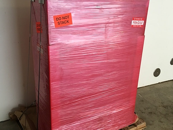 Gun Safe Cabinet In Shipping Tape Delivery
