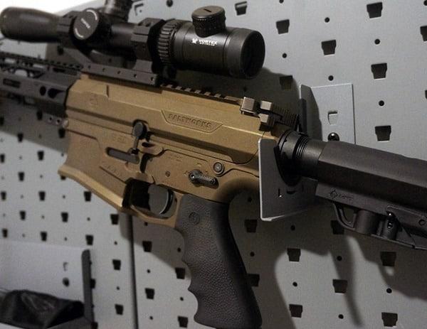 Gun Safe With Wall Display Of Rifle