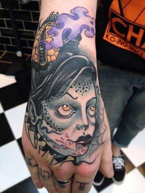 Doll Tattoo On Hand