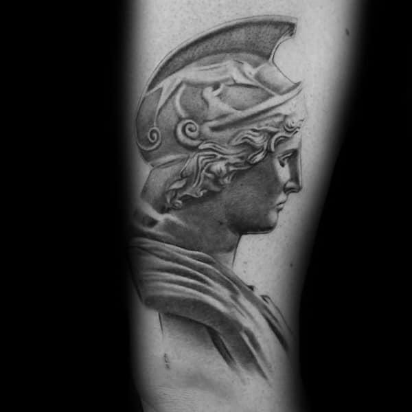 Guy With Athena Tattoo