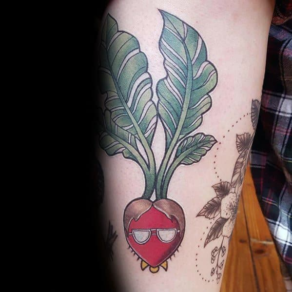 Guy With Beet The Office Tattoo