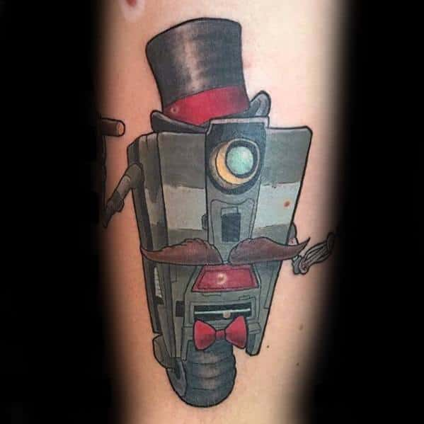 Guy With Borderlands Tattoo Design