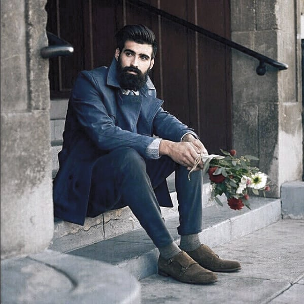 Guy With Classy Dapper Beard Design
