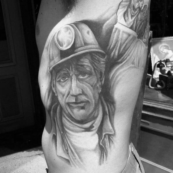 Guy With Coal Mining Tattoo