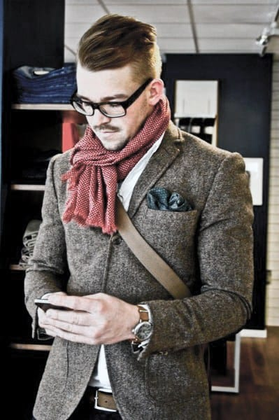 Guy With Cool Casual Wear Clothing Style Wool Blazer