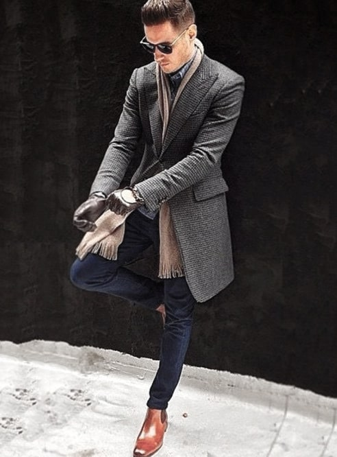 Guy With Cool Winter Outfits Clothing Style