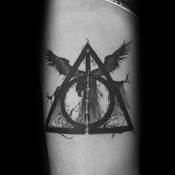 Guy With Dementor Tattoo Design
