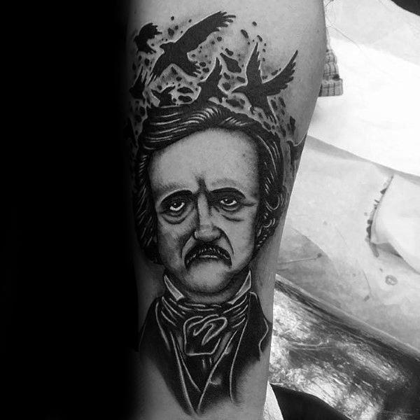 Guy With Edgar Allan Poe Tattoo