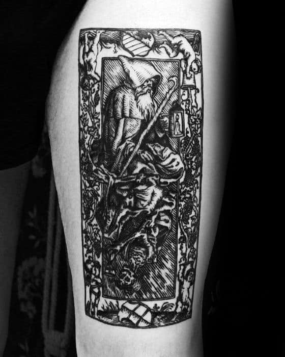 Guy With Esoteric Tattoo Design