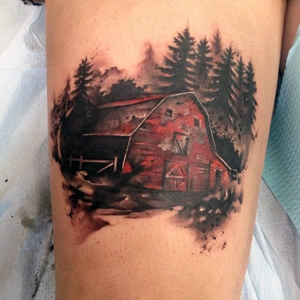 Guy With Farming Tattoo