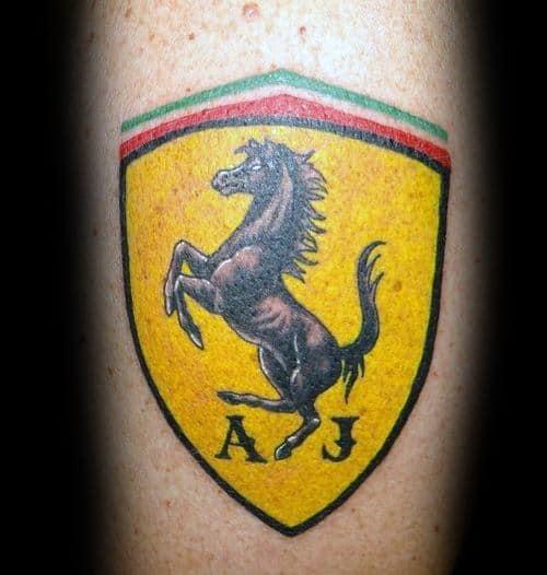 Guy With Ferrari Tattoo