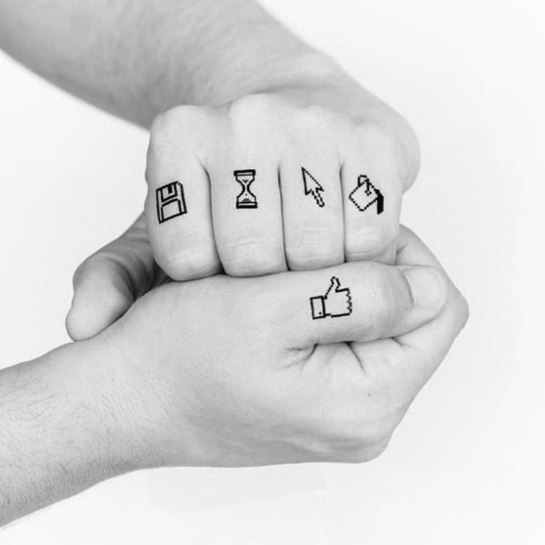 Guy With Fingers Computer Icons Tattoo Design