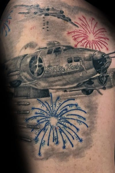 Guy With Fireworks Tattoo