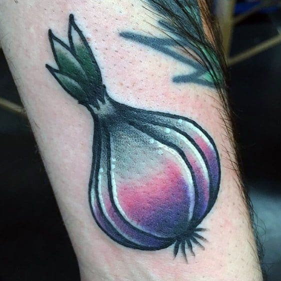 Guy With Garlic Tattoo