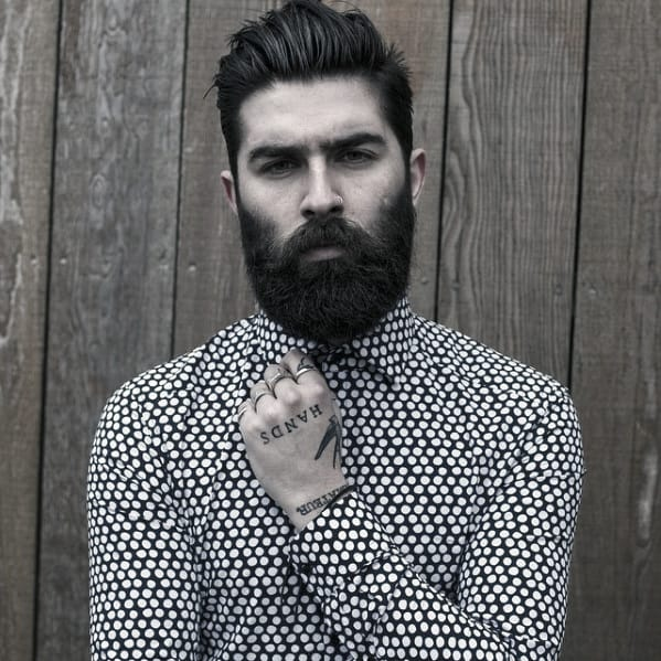 Guy With Great Dapper Beard Design