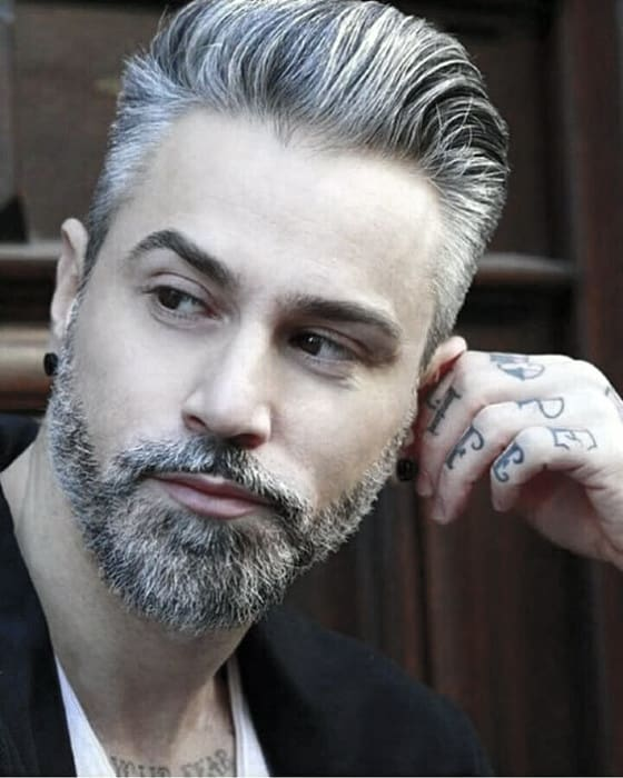Guy With Grey Cool Beard Styles