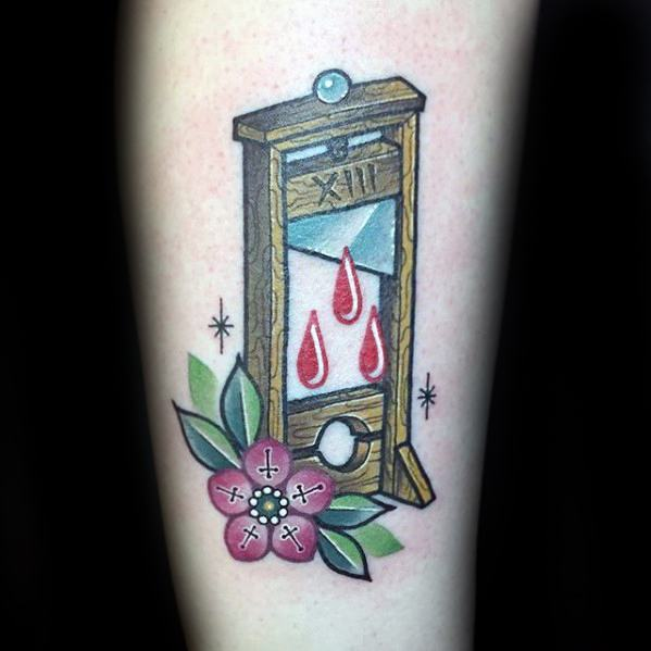 Guy With Guillotine Tattoo Design