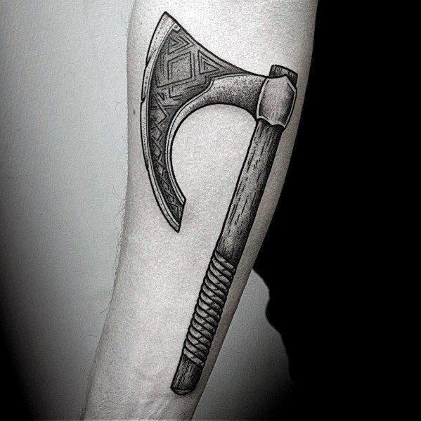 Guy With Hatchet Tattoo