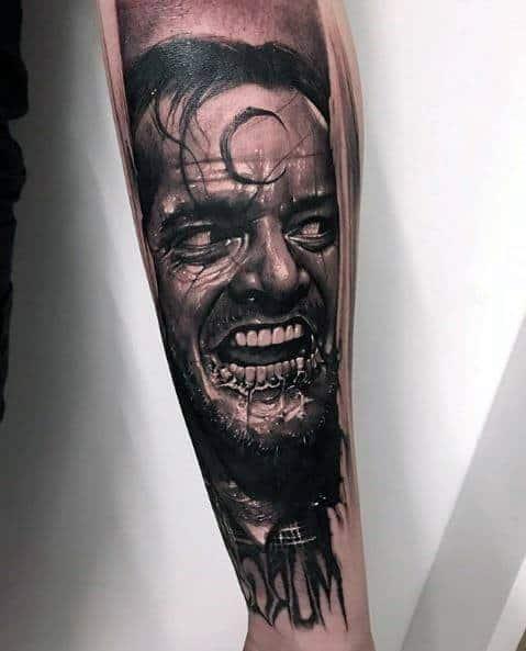 Guy With Horror Movie Tattoo