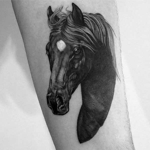 Guy With Horse Tattoo Design