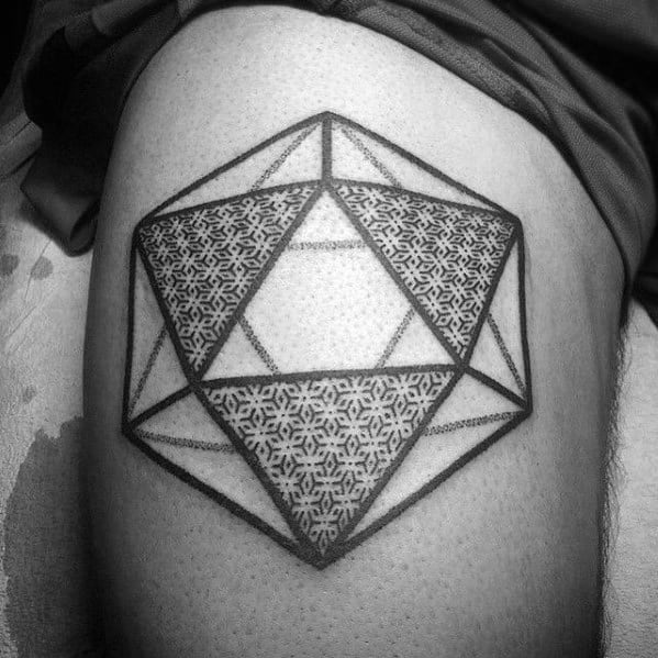 Guy With Icosahedron Tattoo Design