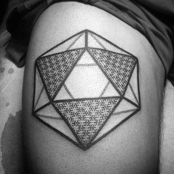Guy With Icosahedron Tattoo Design
