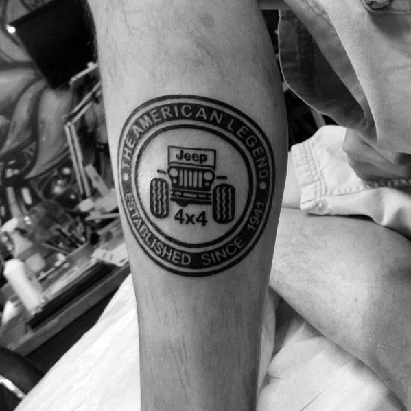 80 Jeep Tattoos For Men Automotive Design Ideas